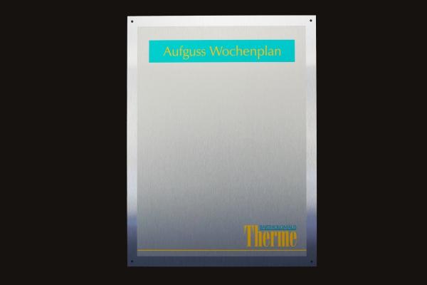 Druck von Schilder auf Aludibond Butlerfinish