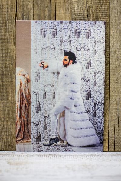 Druck von Bilder auf Aludibond Butler finish silber