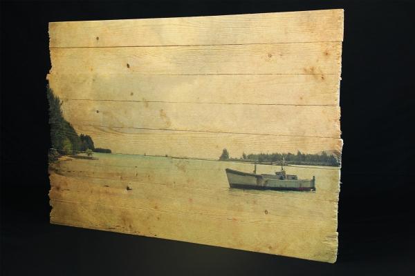 Bilder auf Holz mit Holzmaserung, Holzdruck, gebrochene Kanten