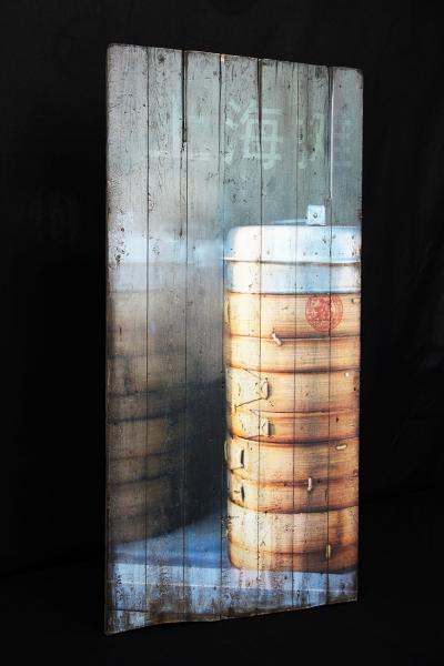 Bilder auf Holz mit Holzmaserung, verleimt