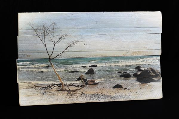 Bilder auf Holz mit Holzmaserung, verleimt, versetzte Kanten