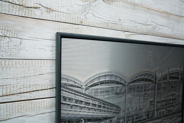 Druck auf Aluminium gewellt mit Bilderrahmen