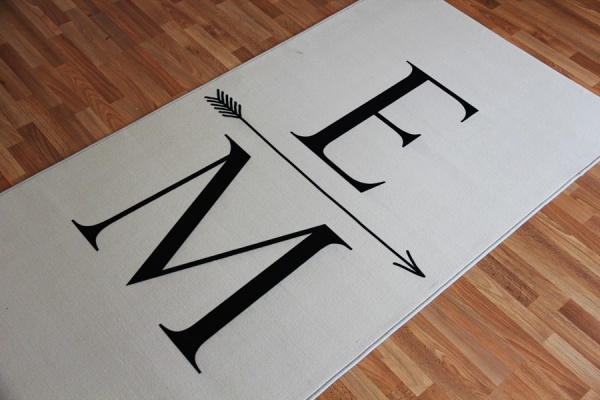 Druck auf Teppich