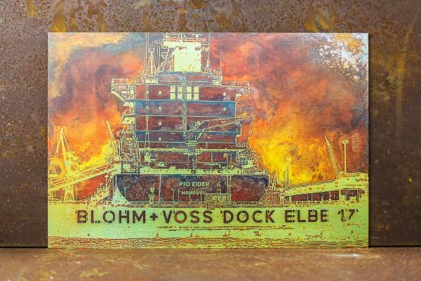 Bilderdruck auf Aludibond Butler finish silber vom Dock Elbe 17